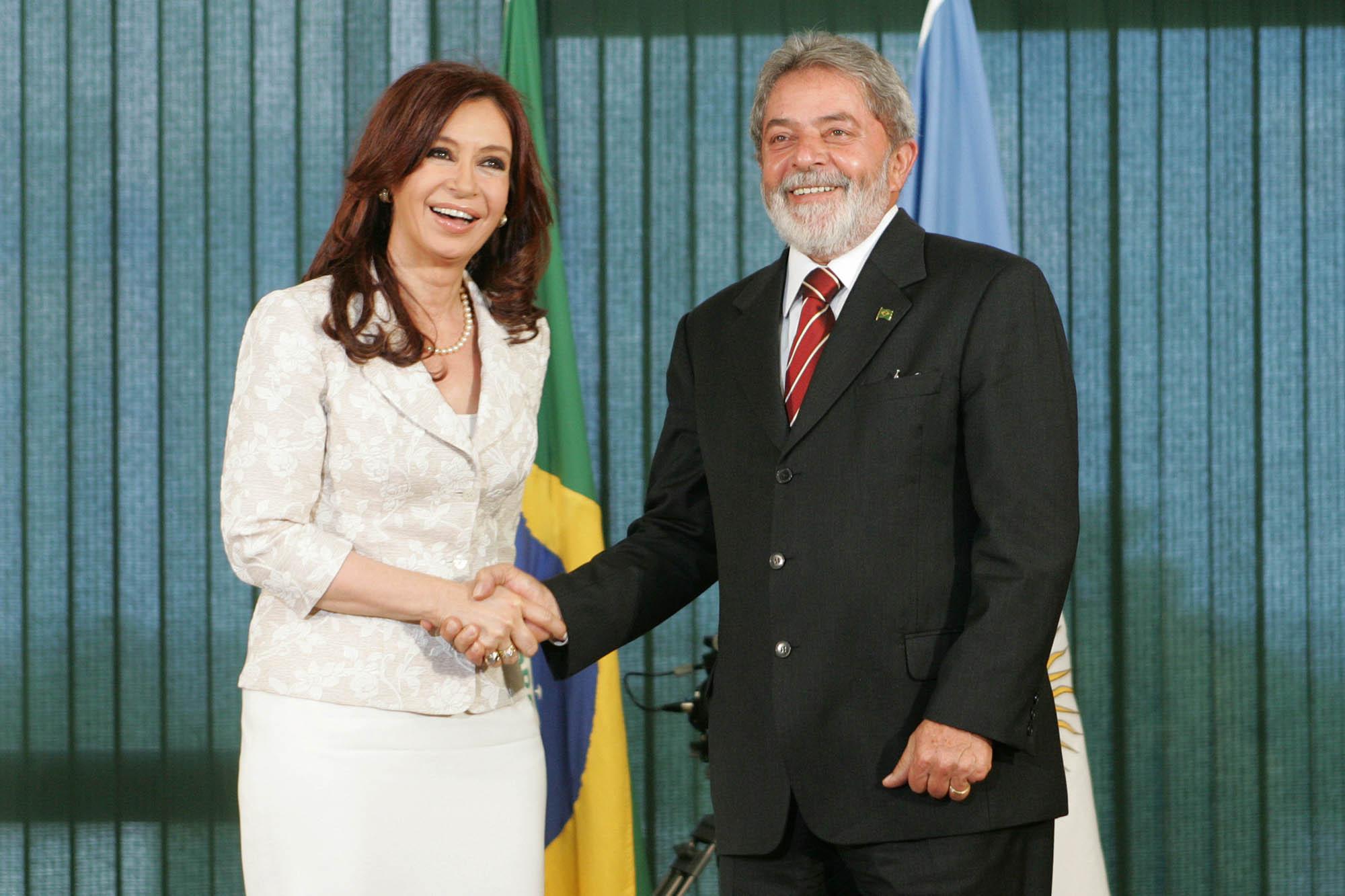 Cristina Kirchner e Luís Inácio Lula da Silva. Foto: Presidencia de La Nacion Argentina