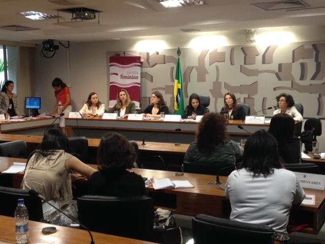 A pauta feminina faz parte da campanha 16 dias de ativismo pelo fim da viol+¬ncia contra a mulher