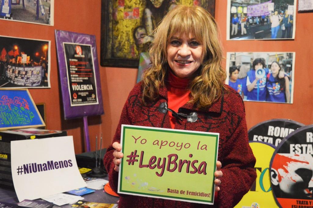 Ada Rico co-fundadora da Casa del Encuentro é uma das lideranças nos avanços legais sobre feminicídio na Argentina. Foto por: Angélica Almeida