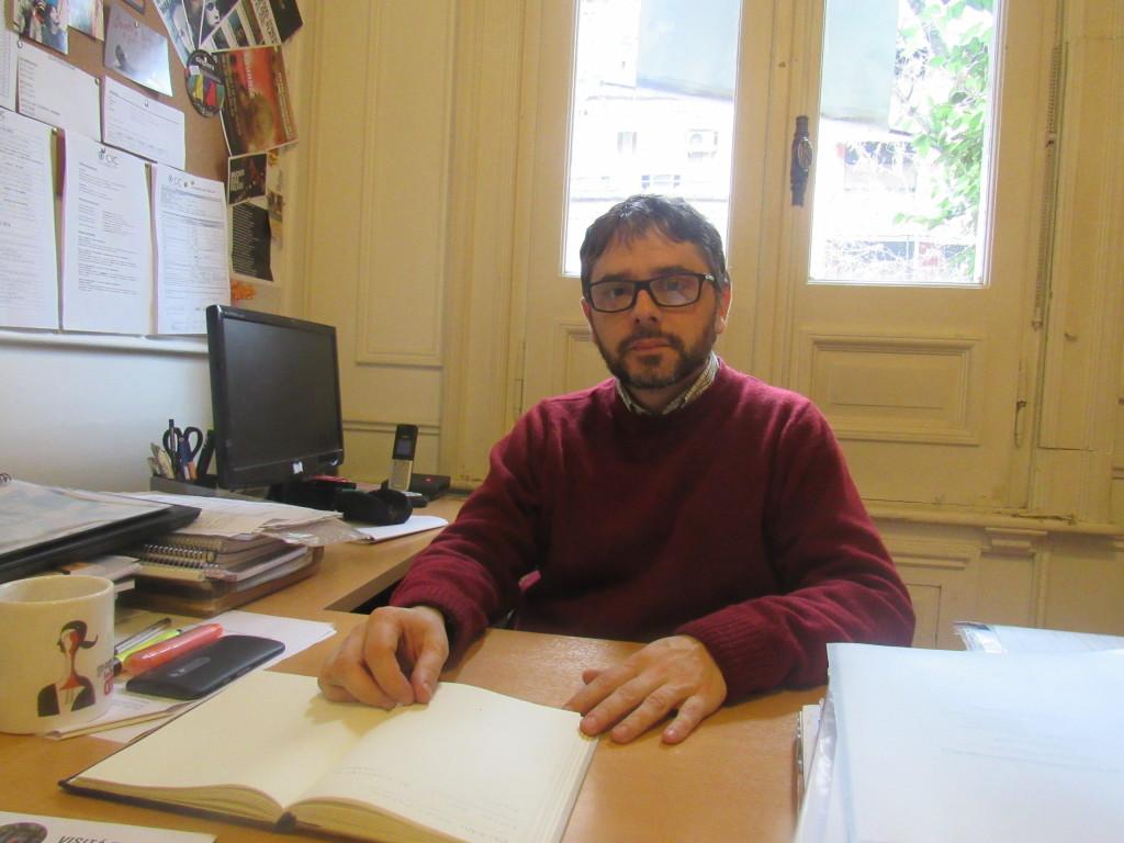 Fábian Sampedri: diretor da faculdade de cinema da CIC, diz que sua maior batalha vencida foi ajudar a formar novos cineastas. Foto por: Bárbara Garcia