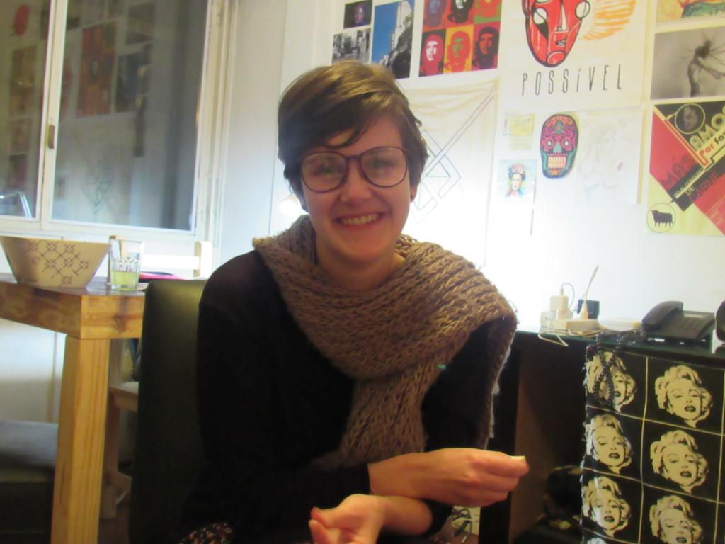 Marina Rosa: descobriu alegria ao produzir uma video-instalação sobre empoderamento de mulheres. Foto por: Bárbara Garcia